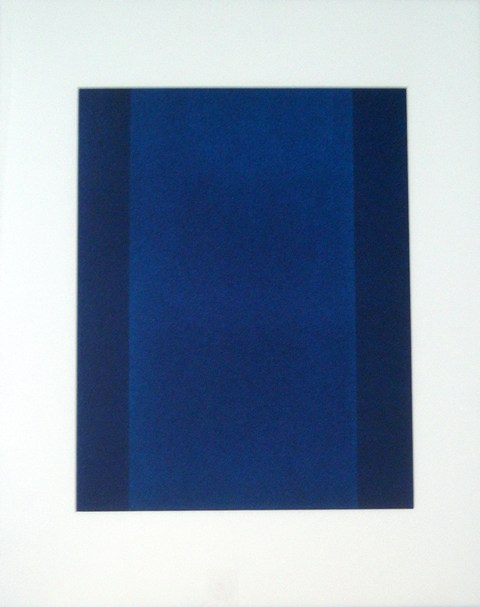 Study of the colour blue #1, oil, 2010
