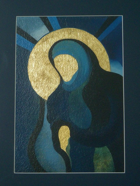 Virgin, oil, gold leaf 2010