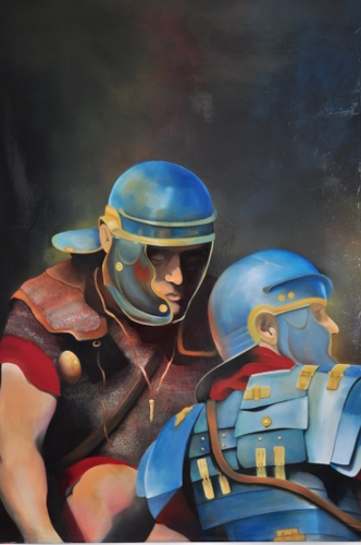 Roman Soldiers, oils 2012