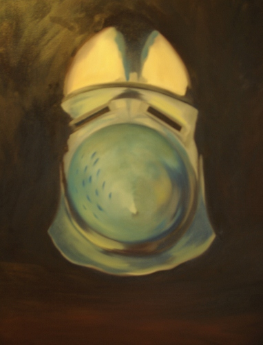 Bascinet front view, oils 2012
